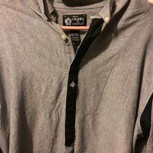 Crooks and Castles button up long sleeve XL